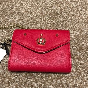 Juicy sexy red wrist wallet with wrist chain